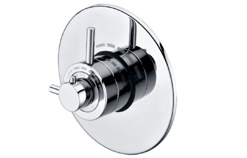 Modern Concealed Thermostatic Shower Valve - Single Outlet